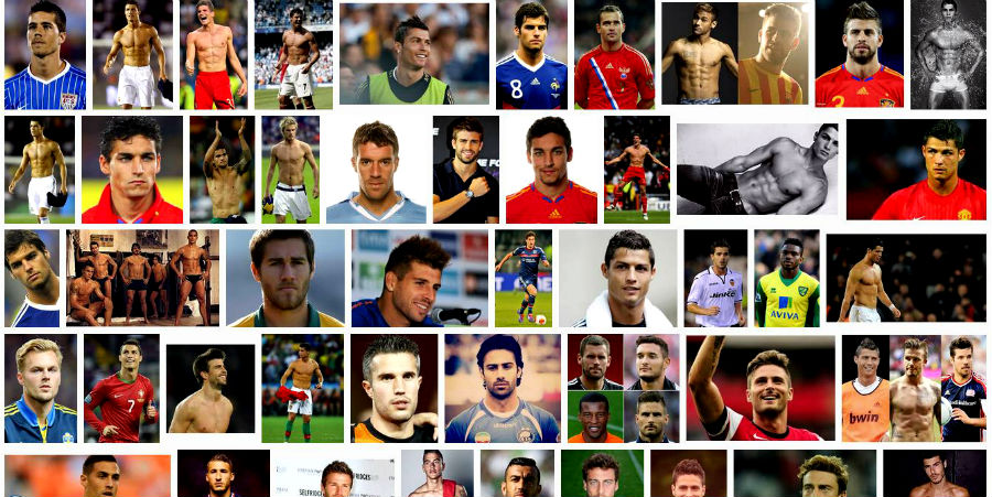 hottest soccer players in google search