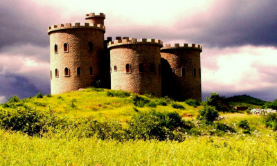 beautiful castle in hilltop brazil