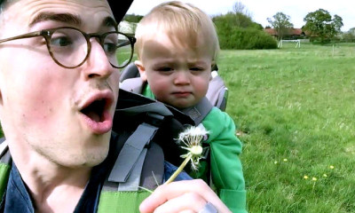 little buzz and dad bonding viral video