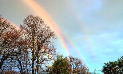 quadruple rainbow viral news