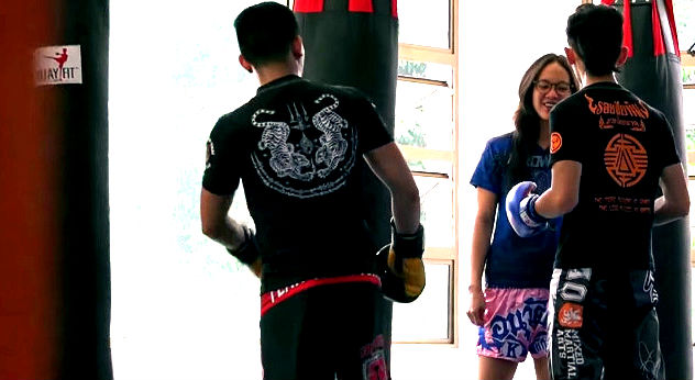 Watch Viral video Female Muay Thai Champ Pretends To Be a Nerdy Girl