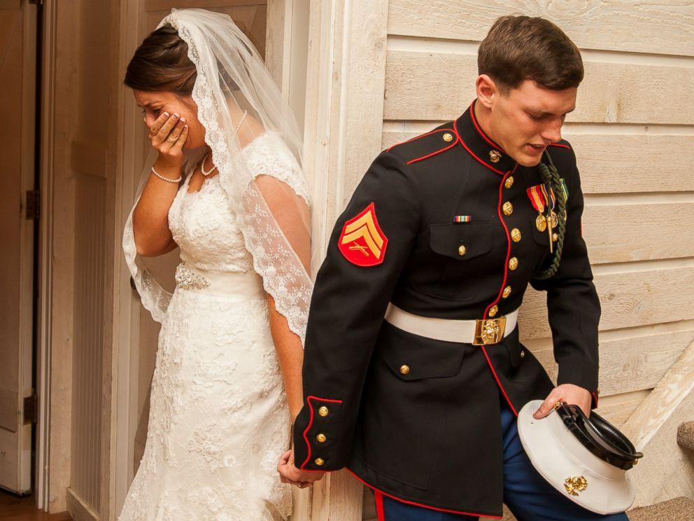marine wedding dwayne schmidt