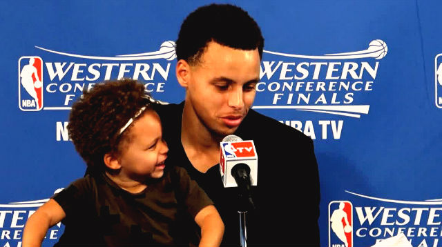 stephen currys daughter steals his show