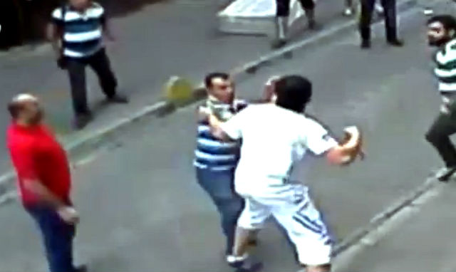 man boxer street irish mob turks viral