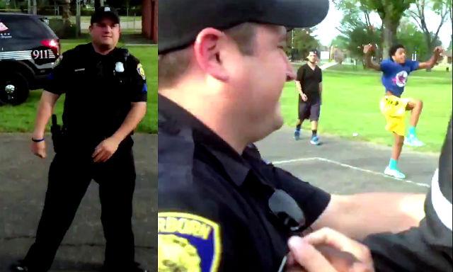 viral cop shooting basketball tweet