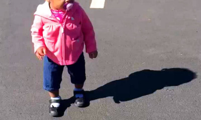 little toddler girl afraid own shadow viral by dad jacobs