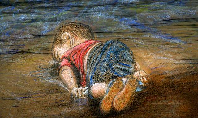 sad image boy drowned europe viral