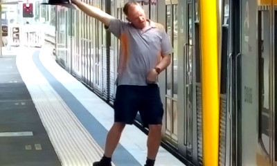 dancing train guard in australia went viral