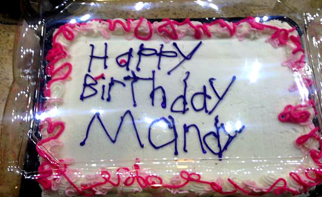 Cake Decorated by Worker with Autism viral photo