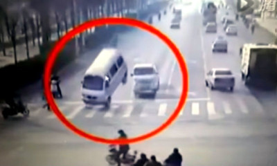 Mysterious Levitating Cars at Busy Intersection in China
