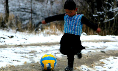 Afghan Boy Goes Viral with Messi-inspired Jersey Made from Plastic Bag