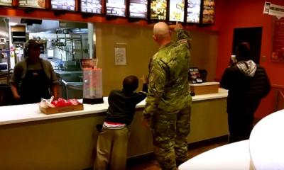 army ranger risdon feeding kids viral