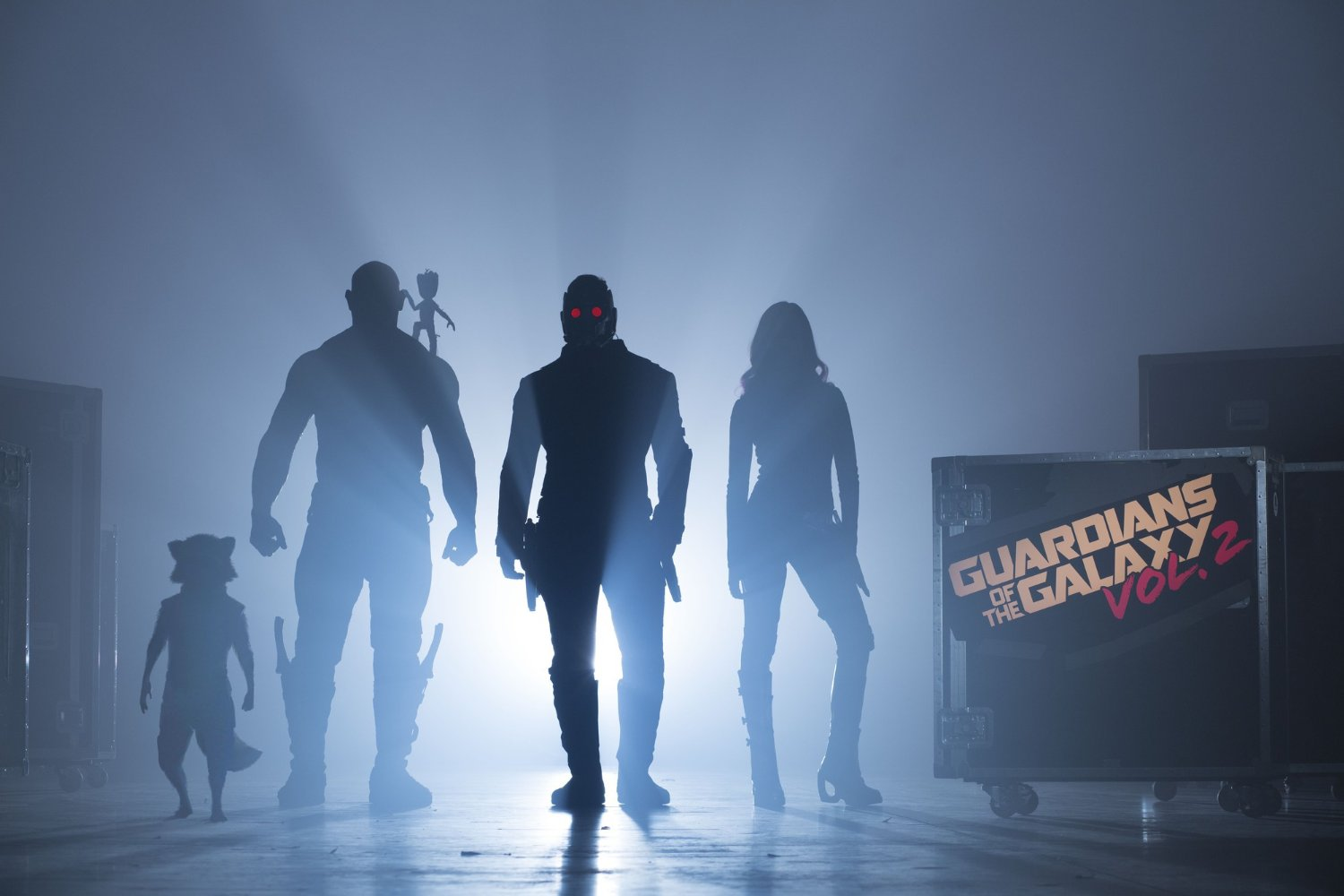 Guardians of the Galaxy Rocket, Drax, Baby Groot, Star-Lord, Gamora