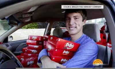 Hunter Jobbins Car Filled With Kit Kat Bars