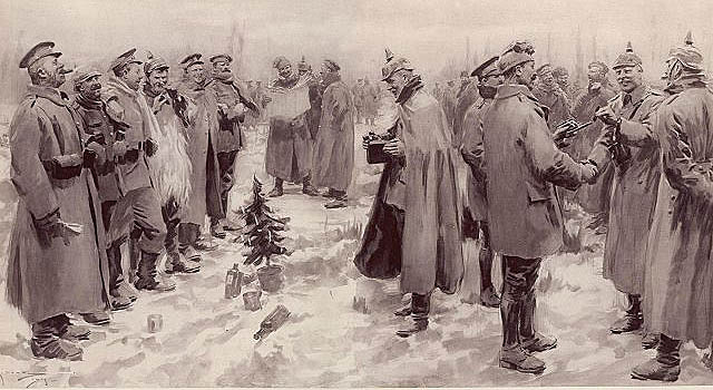Christmas Truce 1914 Illustration