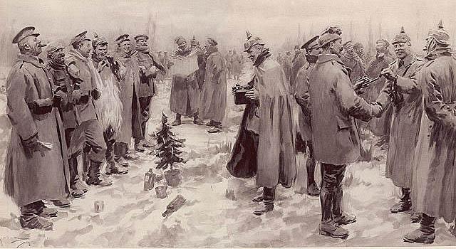 Christmas Truce 1914 Illustration