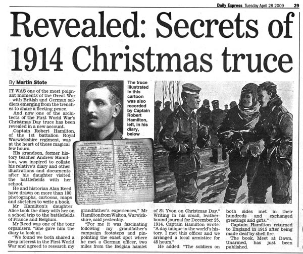 Christmas Truce Daily Express News Paper