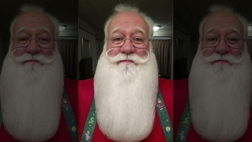 Eric Schmitt-Matzen volunteers as Santa Claus at a local Tennessee hospital.