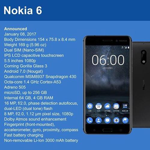 Nokia 6 Features