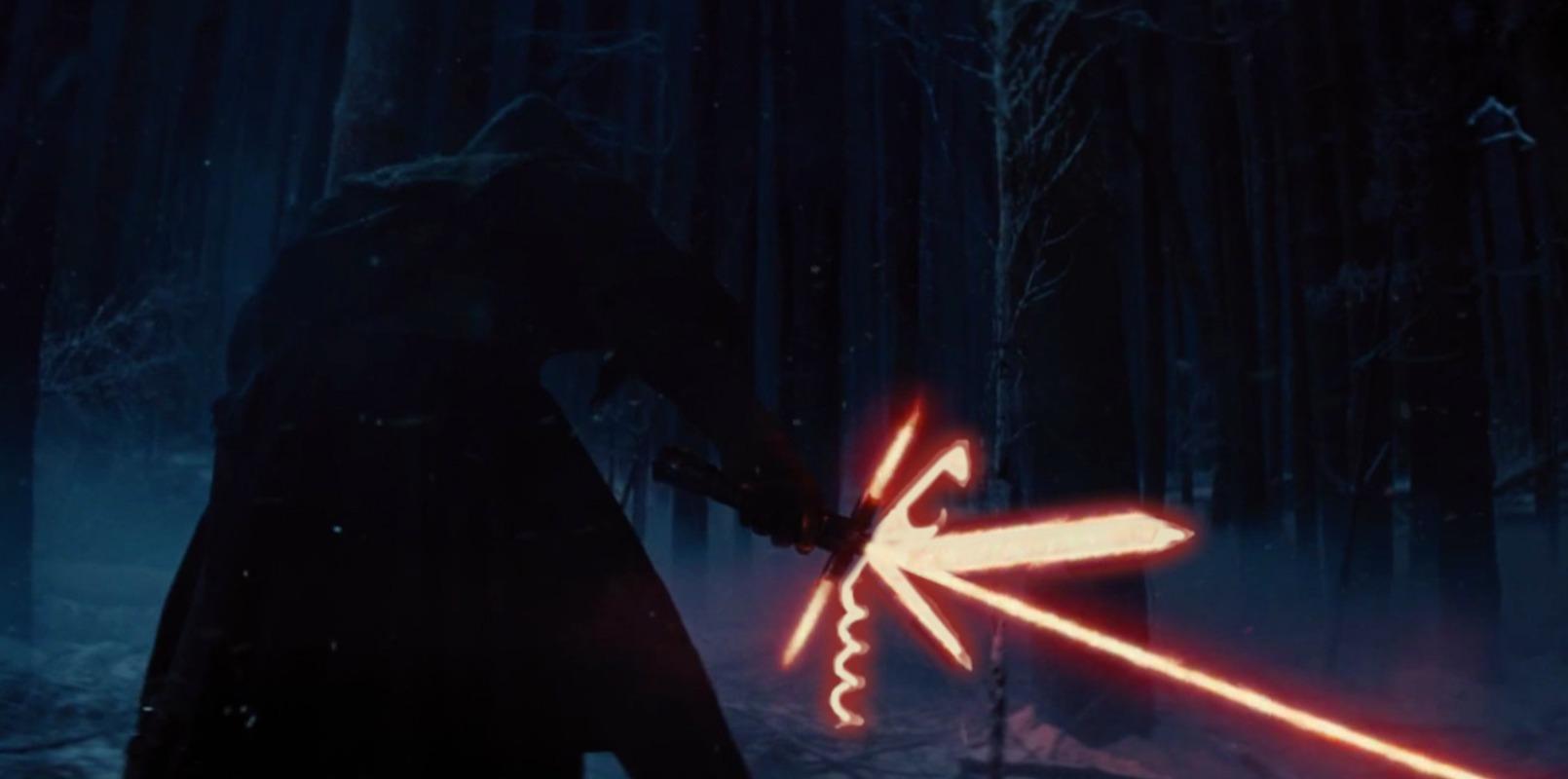 Kylo Ren's Tri-Lightsaber