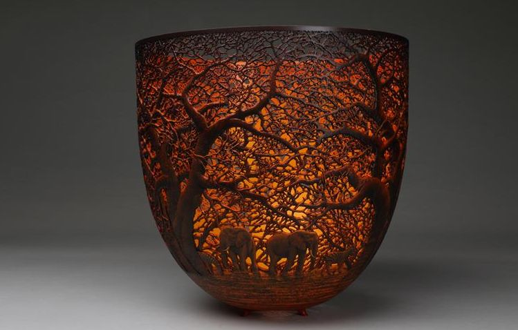 Tsavo Sunset - wood art by Gordon Pembridge class=aligncenter size-full wp-image-9725
