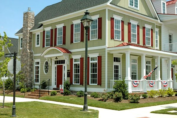 Subtle Contrasts - Types of Exterior House Siding Ideas
