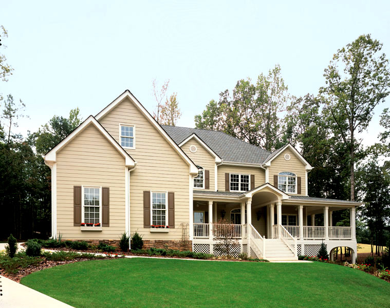 Subtle Tones - Types of Exterior House Siding Ideas