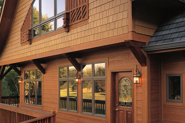 Natural Wood Look - Exterior House Siding Colors