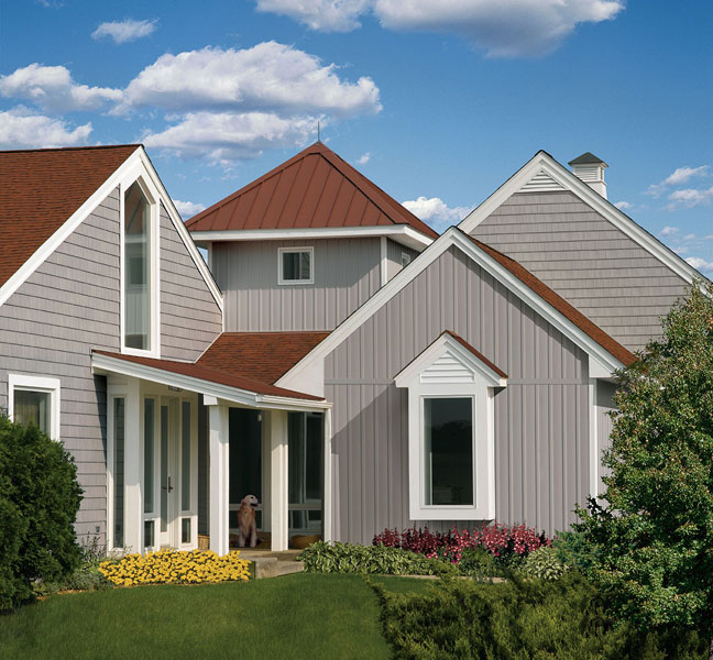 Change Directions - Types of Exterior House Siding Ideas