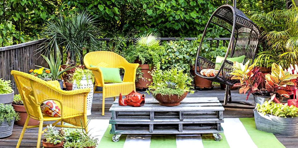 Colorful Furniture , Indoor & Outdoor Decking Ideas