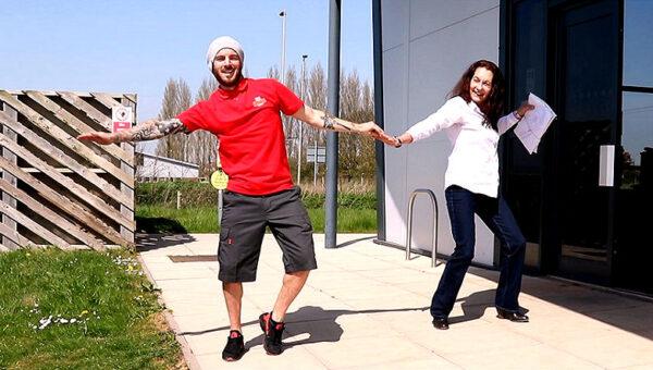dancing postman adam win the internet today