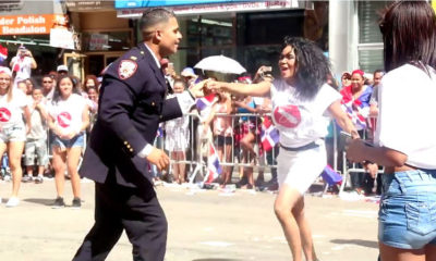 dancing officer in dominican parade new york viral