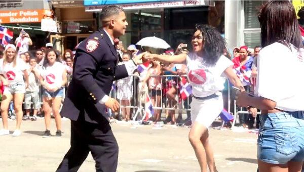 NYC Officer enjoys dancing salsa at Dominican Day Parade goes Viral