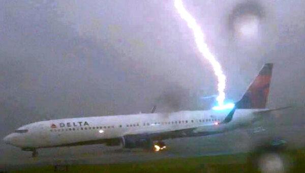 Shocking Video: Lightning strikes a Delta flight landing in Atlanta