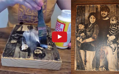 How to transfer a photo onto a slab of wood - DIY video tutorial